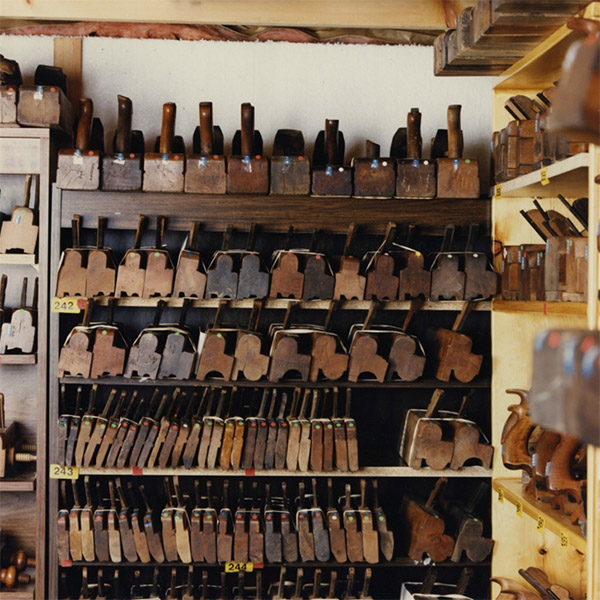 Some of the vast collection of hand planes held at the Maclachlan Woodworking Museum.   The collection is now housed in a new climate controlled storage area.